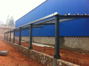 Una capa de revestimiento de color de la estructura de acero corrugado edificio