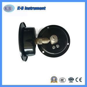 il manometro asciutto della cassa d'acciaio nera di 100mm con spegne il codice categoria 1