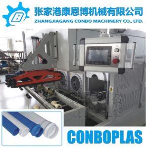 Sin conexión en línea totalmente automática horno doble tubo de drenaje de agua de PVC Belling engaste máquina