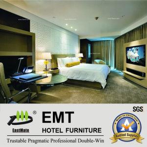 Le Roi Bed Set luxueux (EMT-A1204) de chambre à coucher d'hôtel