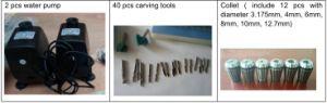 Double en bois 3D de la fusée CNC Router la gravure avec 2,2 kw*2, refroidissement par eau Qd-1212R2