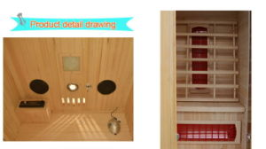 Joda populäre Serien-keramische Heizungs-weites Infrarot-Sauna-Räume