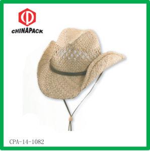 Cappello di paglia della rafia di stampa (CPA-14-1082)