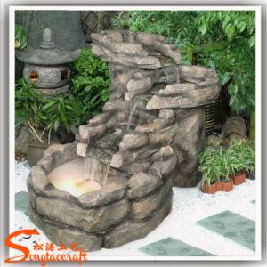 Fornecedor de Guangzhou recursos de fibra de vidro Rockery artificiais para decoração de jardim (RH007)