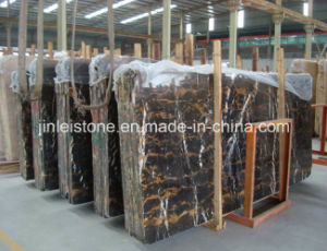 Interior Flooringのための磨かれたイタリアのPortoro Marble