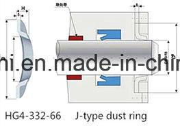 NBR FKM Vition FPM bague anti-poussière de type J
