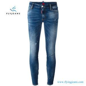 Donne classiche di modo della fabbrica/jeans scarni denim delle signore