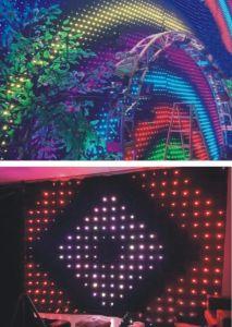 2*3m RGBの完全な組合せカラーDJはショーの背景幕LEDの視野のカーテンを上演する