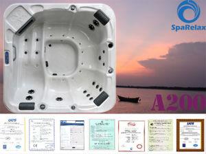 Baignoire acrylique de massage de jacuzzi d'articles sanitaires de sortie d'usine de la lucite A200