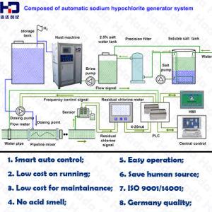 1kg/h 5000ppm creador de la solución de hipoclorito de sodio en el lago de extracción de algas