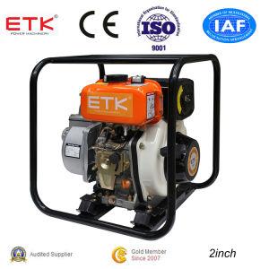 pompa ad acqua portatile di inizio di ritrazione 2inch con il motore diesel