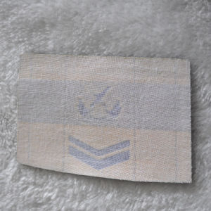 Etiquetas tejidas 100%Poliéster insignia del hombro para la ropa