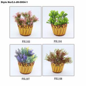 Искусственные пластмассовые травы и цветы бонсай для дома украшения