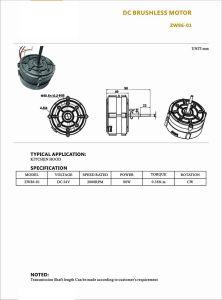 Alta eficiencia del motor de CC con salón para Power Tool