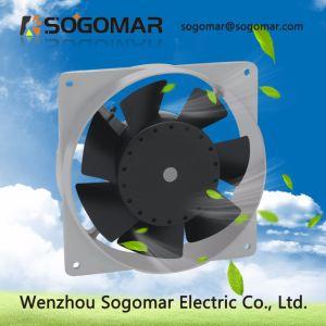 (SF12038) Prata 7 ventilador de lâminas do ventilador do rolamento de esferas da ventoinha de ventilação de exaustão
