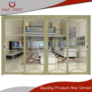 Алюминиевый профиль стеклянные раздвижные двери для внутреннего использования
