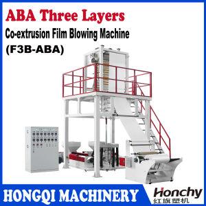 ABA três da co-extrusão camadas da máquina de sopro da película
