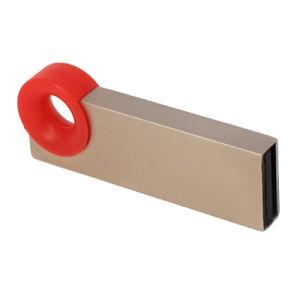La vente de métal chaud cadeau pendaison bague en plastique rouge Logo personnalisé le disque Flash USB