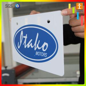 Знак ПВХ методом трафаретной печати деловых обедов