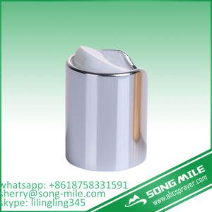Appuyez sur le capuchon en plastique en aluminium Gold Disc Bouchon supérieur
