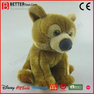 Giocattolo realistico molle realistico dell'orso di Brown della peluche dell'animale farcito di ASTM