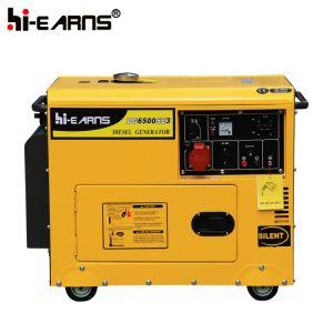 Tipo silenzioso raffreddato ad aria gruppo elettrogeno diesel del singolo cilindro tre fasi (DG6500SE3)