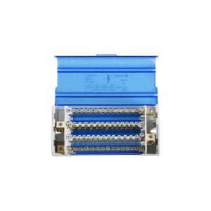 500V de 4 polos de cobre de distribución de 125 A CARRIL DIN Bloque Terminal Busbar