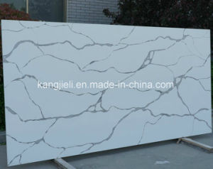 Couleur de fond blanc veine noire Kzs608 Calacatta recomposée Pierre Quartz