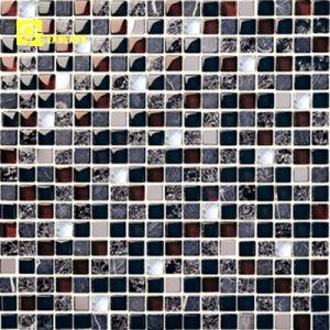 Tegels van het Mozaïek van de Lei van het Glas van de Fabriek van Foshan de Zwarte voor Patroon