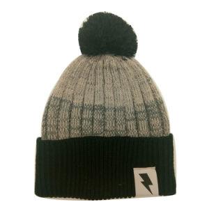 Los niños de la moda de invierno cálido tejido Marl mirar Hat Cap