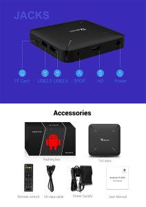 Fernsehapparat-Kasten-neuer Chipset Tx5 maximaler Amlogic S905y2 2GB DES RAM-16GB gesetzter Spitzenkasten Fernsehapparat ROM-Fernsehapparat-Kasten-Vierradantriebwagen-Kern-Wurzel-Zugriffdes android-8.1