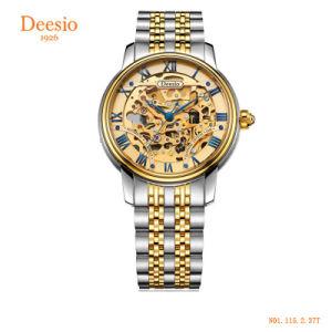 人のための自動骨組ビジネスカスタム男性用ステンレス鋼の機械腕時計