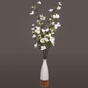 Шелковые ткани два раздвоенные Medlar Цветы искусственные цветы, белый поддельные цветы, Medlar искусственные цветы, фиолетовый поддельные цветы, фиолетовый искусственные цветы