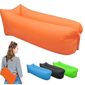 Al aire libre inflables Lazy Lounge de aire de plegado Sofá Sofá cama en la playa