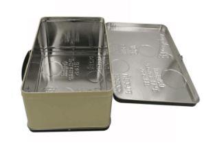Nueva Gran superficie grabada de controlador personalizado almuerzo tin box