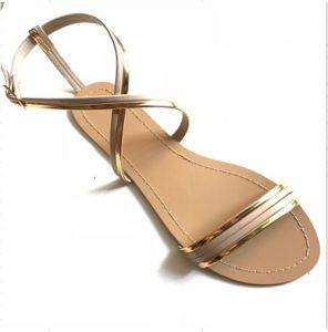 Robe de PU Lady Chaussures femmes sandale