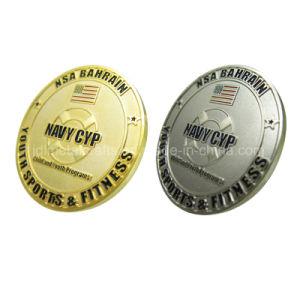 Preiswerte emaillierte Goldsilber-Andenken-Geschenk-Metallherausforderungs-Münze (021)