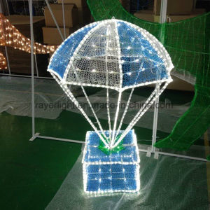 LED-Beleuchtung-Fallschirm-Weihnachtstagespark-Dekoration