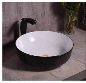 Sanitarios Matt lavabo de cerámica de color marrón (C1271B)