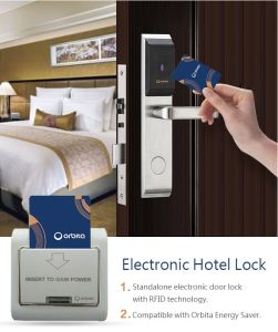 إلكترونيّة ذكيّة [رفيد] [كي كرد] فندق [دوور لوك] مع برمجيّة إدارة