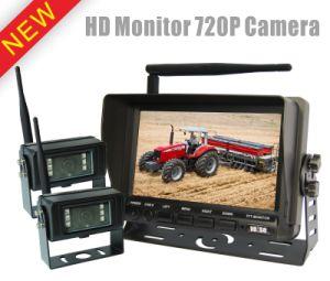 720p Système de surveillance de l'appareil photo intégré à la marche arrière sans fil 2,4 Ghz