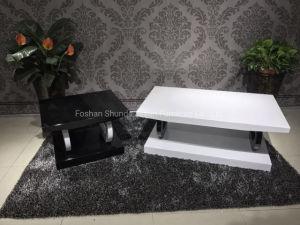 Blanco alto brillo MDF moderno centro mesa de café