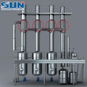 Evaporador de queda de recuperação de solventes