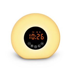 Sonnenaufgang-Simulations-Alarmuhr, wachen Natur-Töne des Licht-6, FM Radio, Farben-Licht auf