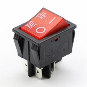Rojo estilo electrónico basculante Kcd4 Interruptor de alimentación, proveedor de China