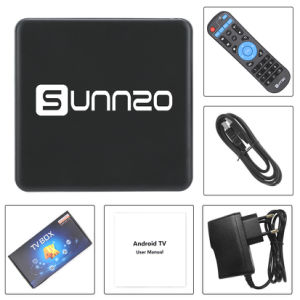 Sunnzo G9 androider intelligenter Fernsehapparat-Prokasten mit Felsen-Chip Rk3229 1GB RAM/8GB ROM-Support 4K 1080P, 2.4GHz WiFi