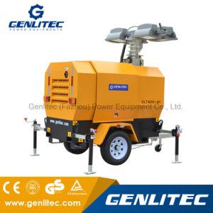 Alimentación Genlitec móvil hidráulico Torre de Luz con motor Perkins (GLT4000-9HP)