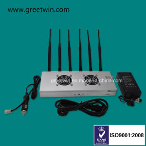 6 de Stoorzender van het Signaal van de Telefoon van de Cel Lte800 Lte2600 van antennes 12W 4G2300 30 Meters
