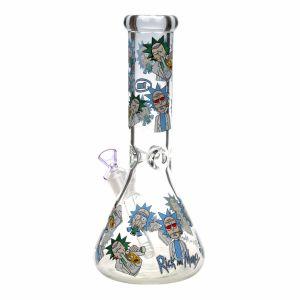 7mm de tubo de vidrio ultrafino Rick y Morty vaso de agua el hábito de fumar