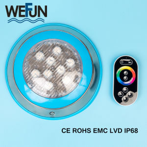 Cambio de Color de alta potencia SS304 IP68 12V LED Mando a Distancia bajo el agua de la luz de la Piscina